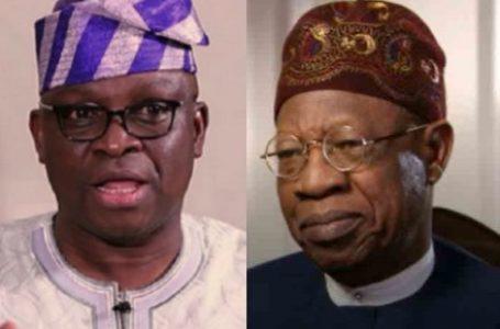Nigeria More Secured Under Jonathan Than Buhari – Fayose Blasts Lai Mohammed