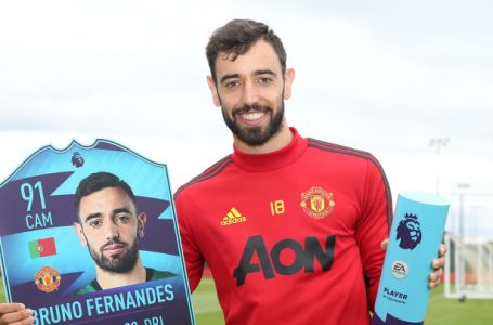 Premier League: Bruno Fernandes Wins Second Consecutive Player Of The Month