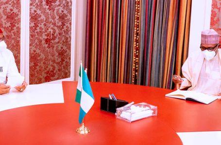 Buhari, Imo Gov, Uzodinma In Closed-Door Meeting In Abuja (See Photos)