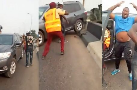 Fleeing Driver Knocks Police Officer Into Canal In Lagos (Watch Video)
