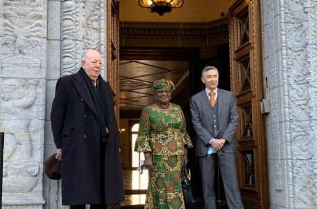 Okonjo-Iweala Makes African Fashion Statement On Day One At WTO (See Photos)