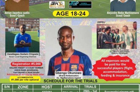 FootballAgentsStormNigeriaForGoldenKnightTalentHunt