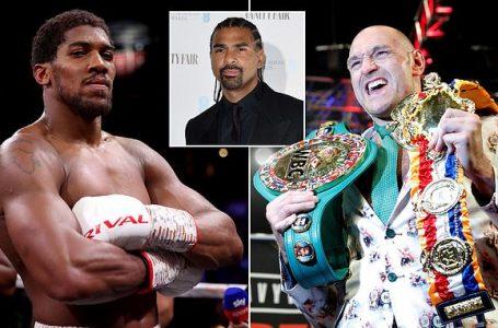 David Haye Tips Anthony Joshua  To Beat Tyson Fury