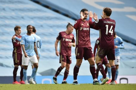 10-Man Leeds Beat Manchester City 2-1 At Etihad Stadium