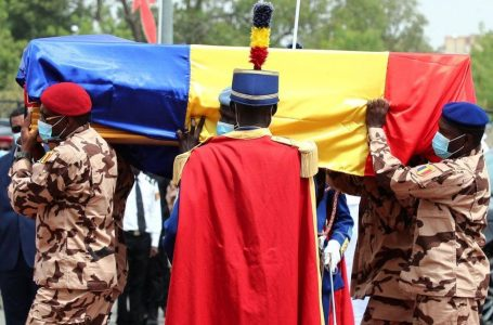 Macron, Other African Leaders Attend Late Chad's President, Idriss Déby's Funeral